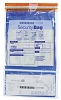 "NEW - 53858 Bank Security Deposit Bag, Dual Pocket Clear Front, Opaque Back, 9 ½"" x 15"