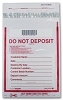 "53881 Clear Do Not Deposit Bank Security Deposit Bag, 9"" x 12"