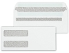 92551 a.k.a. 1112453 Double Window Security Tinted Check Envelopes, Self Seal