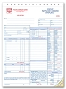 6501 a.k.a. 6501-3 HVAC Service Order Forms with Checklist (crash printed)