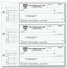56300N a.k.a. 56300N-1, 56300 3-On-A-Page Compact Size Checks & Deposit Slips