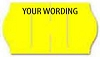 1575-1 Yellow METO 1 Line Pricing Gun Labels - 13/16