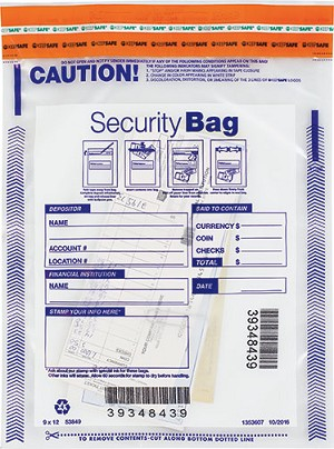"NEW - 53849 Bank Security Deposit Bag, Clear Single Pocket, 9"" x 12"" aso Amazon.com"