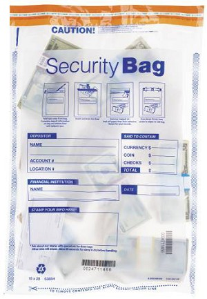 "NEW - 53854 Bank Security Deposit Bag, Clear Single Pocket, 15"" x 20"" aso Amazon.com"