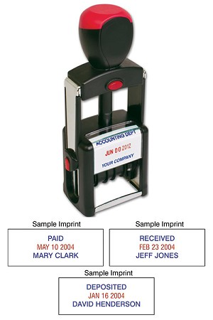 D143 a.k.a. D43, 43, D142 Self-Inking 2 Color Metal Dater Stamp