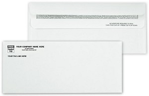 712 a.k.a. 712-1, 7974 Confidential #10 - 24lb White Side Seam Non-Window Envelope, Self Seal Flip-N-Seal - Printed 1 Color
