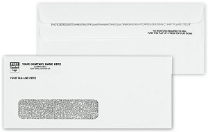 713 a.k.a. 713-1, 7131, 91623, 901-91623 Confidential Window #10 - 24lb White Side Seam Envelope, Self Seal Flip-N-Seal - Printed 1 Color