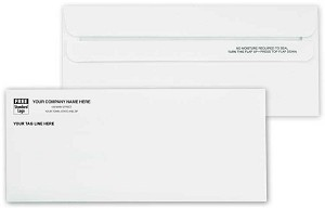 762 a.k.a. 762-1 #10 - 24lb White Side Seam Non-Window Envelope, Self Seal Flip-N-Seal - Printed 1 Color
