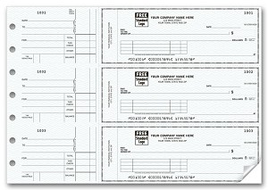 53222N a.k.a. 53222N-1, 53222N-2, 53222 3 On a Page Side Tear Voucher Checks