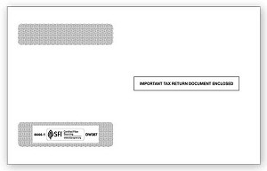 TF44441 Double Window W-2 Envelope 4-UP Horizontal