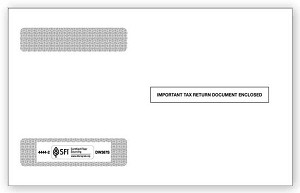TF44442 Double Window W-2 Envelope 4-UP Horizontal Self Seal