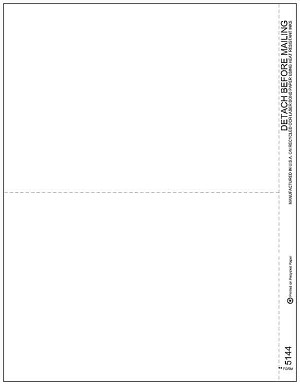 TF5144 a.k.a. 80637 - 2 Up 1099 Blank Laser Tax Form
