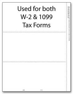 TF5174 a.k.a. 82622 - 3-Up W-2 Blank Laser Tax Form without Backer Instructions