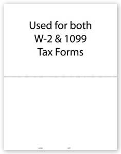 TF5207 a.k.a. 82664, WONEPERF05 - 2 Up W-2 Blank Laser Tax Form without Backer Instructions