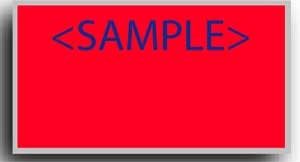 "5902-1 Neon Red Monarch 1 Line Pricing Gun Labels - 3/4"" x 2/5"" - PRINTED"