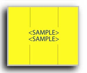 "5913-1 Yellow Monarch 2 Line Pricing Gun Labels - 3/4"" x 5/8"" - PRINTED"