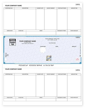 SDLM206 a.k.a. SDLM206-1, SSLM206 Sage 50, Peachtree Accounts Payable Laser Checks - Foil Hologram
