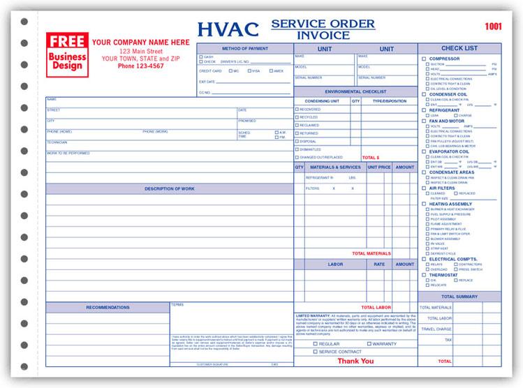 6534 a k a 6534 3 hvac service order forms with checklist crash