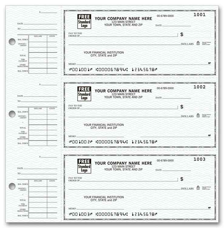 56300N a k a  56300N-1, 56300 3-On-A-Page Compact Size Checks & Deposit  Slips