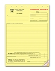 NEW - 271 a.k.a. 271-3 Yellow Contractors Change Order Forms - Carbonless