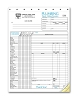 6540 a.k.a. 6540-3 Plumbing Invoice with Checklist - Carbonless Form
