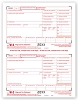 TF5201 a.k.a. 82620, BW2FED05 - 2 Up Laser W-2 Federal Copy A Tax Form