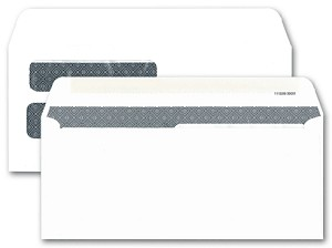 39001 a.k.a. 1112298, 00039001 Double Window Security Tinted Forms Envelope - Dry Gum, Moisture Seal