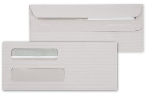 5027 Gray Dual Window Check, Forms Envelope, Self Seal - NO SECURITY TINT