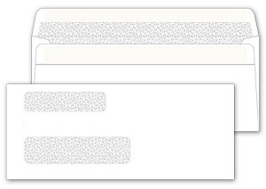 5029 a.k.a. 5029-1, 0005029 Double Window Security Tinted Check Envelope, Self Seal