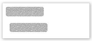 91534 a.k.a. E9153414, E9153414 Double Window Security Tinted Check Envelope - Dry Gum, Moisture Seal