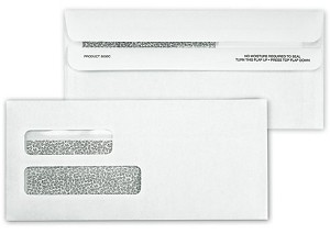 5030C Double Window Security Tinted Forms Envelope, Self Seal