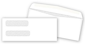 9379 Double Window Check Security Tinted Envelopes - Dry Gum, Moisture Seal