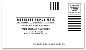 "634BR a.k.a. 634BR-1, 634BRE,  #6-3/4 - 24lb BRE Business Reply Side Seam Envelope, Moisture Seal - 6-1/2"" x 3-5/8"""