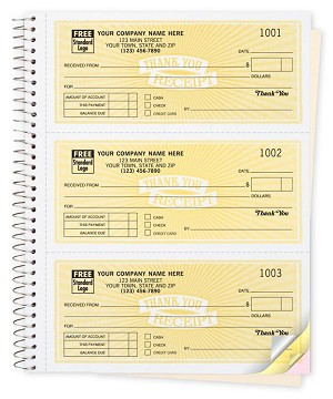 693 a.k.a. 693-2, 693-3 Classic Design 3 To Page Cash Receipt Books