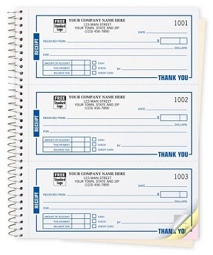 696 a.k.a. 696-2, 696-3 High Impact 3 To Page Cash Receipt Books