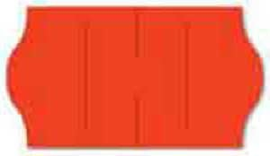 "1573 Neon Red METO 1 Line Pricing Gun Labels - 13/16"" X 7/16"" - BLANK"