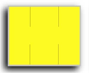 "5913 Yellow Monarch 2 Line Pricing Gun Labels - 3/4"" x 5/8"" - BLANK"