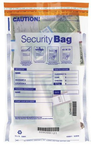 "NEW - 53853 Bank Security Deposit Bag, Clear Single Pocket, 10"" x 15"" aso Amazon.com"