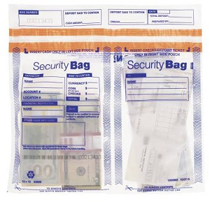 "NEW - 53859 Bank Security Deposit Bag, Side x Side Clear Dual Pocket, 13"" x 10"" aso Amazon.com"