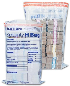 "53861 Currency Shipping Bank Security Deposit Bag, Clear, 19"" x 28"" aso Amazon.com"