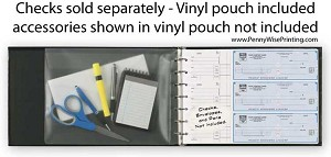 54255N a.k.a. 54255 - 3 to a Page Vinyl Check Binder