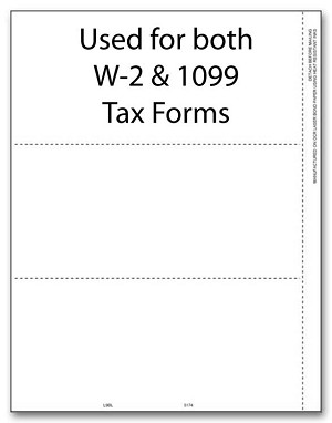 TF5174B - 3-Up 1099 Blank Laser Tax Forms without Backer Instructions - Tax Forms in BULK