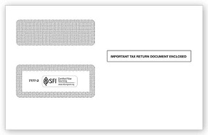 TF77772 a.k.a. 92568, RDWENV05 Double Window 1099 Envelope 2-Up Self-Seal
